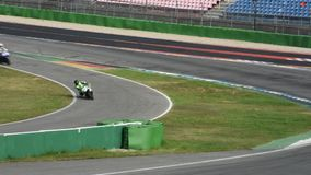 Germany racer riding motorcycle practice motorcycle racing and testing racetrack stock video footage