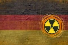 Germany radioactive threat. Radiation hazard concept. Royalty Free Stock Photography