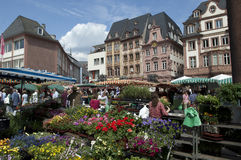 germany średniorolny rynek Mainz Obrazy Stock