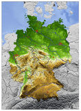 Germany, relief map royalty free illustration
