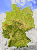 Germany, relief map vector illustration