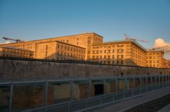 Germany. Remains of the Berlin Wall in Berlin. February 16, 2018 stock photo