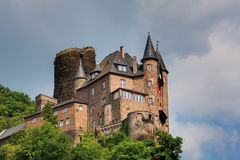Germany,Rhineland,View of burg katz castle Stock Photography