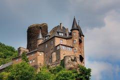 Germany,Rhineland,View of burg katz castle Stock Photography