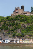 Germany,Rhineland,View of burg katz castle and villag Royalty Free Stock Photos