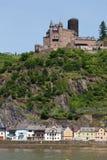 Germany,Rhineland,View of burg katz castle and villag Royalty Free Stock Photos