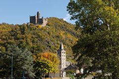 Germany,Rhineland,View of burg maus castle Stock Images