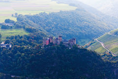 Germany,Rhineland,View of Schonburg castle Royalty Free Stock Images