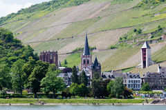 Germany,Rhineland,View of wernerkapelle chapel and ba Royalty Free Stock Photos