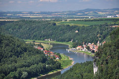 Germany, river Elbe, Saxon Switzerland National pa Royalty Free Stock Images