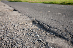 Germany, road, asphalt, pothole Stock Photos