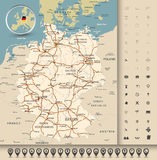 Germany road map Stock Photos
