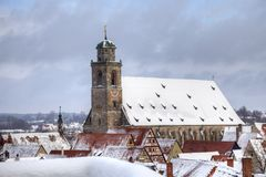 Germany romantic road town Dinkelsbuhl Stock Photography