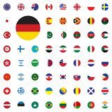 Germany round flag icon. Round World Flags Vector illustration Icons Set. Germany round flag icon. Round World Flags Vector illustration Icons Set Royalty Free Stock Photo