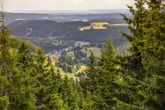 Germany`s Black Forest near Caritas-Haus, Feldberg Royalty Free Stock Image