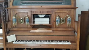 From Germany's musical instruments museum. Museum of musical instruments from Germany, automatic mechanical piano playing Stock Photos