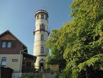 GERMANY, SACHSEN,JULY 5,2016: Old lookout tower on Hochwald Hvoz Stock Image