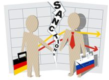 Germany sanctions against Russia Stock Image