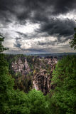 Germany, Saxon Switzerland, Bastei national Park Saxon Switzerla Stock Photo