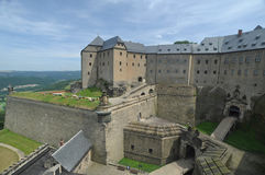 Germany, Saxony, Königstein Fortress Stock Image