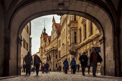 City of Dresden. Saxony. Germany. Center of the old city. stock images