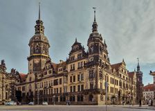 City of Dresden. Saxony. Germany. Center of the old city. royalty free stock photography