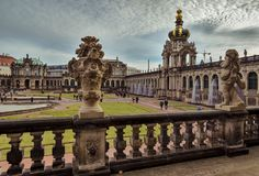 City of Dresden. Saxony. Germany. Center of the old city. stock photography