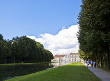 Germany, Schleissheim park, panoramic view of the channel and Ne Royalty Free Stock Photos