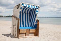 Germany, Schleswig-Holstein, Baltic Sea, beach chair at beach Stock Photos