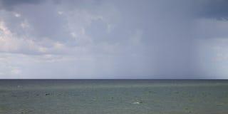 Germany, Schleswig-Holstein, Baltic Sea, rain cloud, Panorama Stock Photo