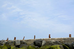 Germany, Schleswig-Holstein, Heligoland, old jetty Royalty Free Stock Photos