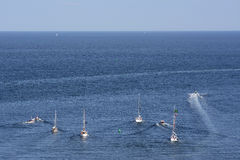 Germany, Schleswig-Holstein, Heligoland, Sailing boats Stock Photography