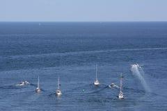 Germany, Schleswig-Holstein, Heligoland, Sailing boats Stock Photography