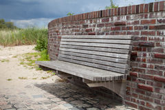 Germany, Schleswig-Holstein, wall and bench Royalty Free Stock Photography