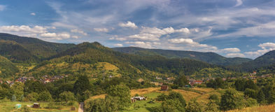 Germany.Schwarzwald.Panorama of three photos Royalty Free Stock Photos
