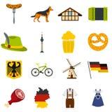 Germany set flat icons Stock Image