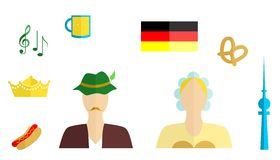 The germany set Royalty Free Stock Images