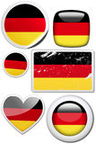 Germany - Set of stickers and buttons. Glossy and colorful stickers with reflection set Stock Image