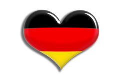 Germany Shiny Heart. Illustration of Germany  flag in bright colors red yellow and black as heart icon Royalty Free Stock Image
