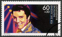 GERMANY - 1988: shows Elvis Presley (1935-1977), series Rock Stars Stock Photography