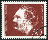 GERMANY - 1966: shows Ernst Werner Siemens 1816-1992, inventor and industrialist, electrical engineer Stock Photo