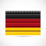 Germany siding produce company icon Royalty Free Stock Images