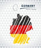 Germany sketch chalk drawing map isolated on a white background royalty free illustration