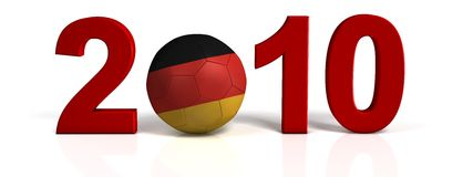 Germany soccer ball Stock Photography