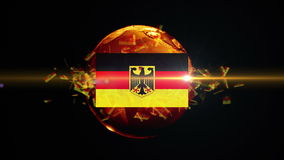 Germany soccer ball turns into the world stock video footage