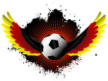 Germany Soccer ball wings Stock Image
