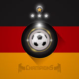 Germany soccer champions flag symbol Royalty Free Stock Photo