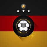 Germany soccer flag. With ball and stars symbol Stock Photography