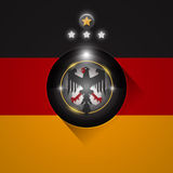 Germany soccer flag symbol. Germany soccer flag with eagle and stars symbol Royalty Free Stock Photography