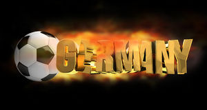 Germany soccer football 3d render. Illustration Stock Photos